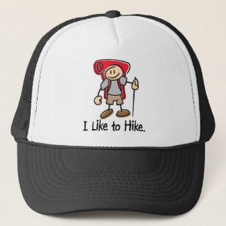 I Like to Hike Red Backpack Trucker Hat