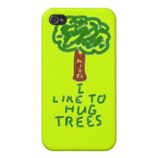 I Like to Hug Trees iPhone 4 Cover