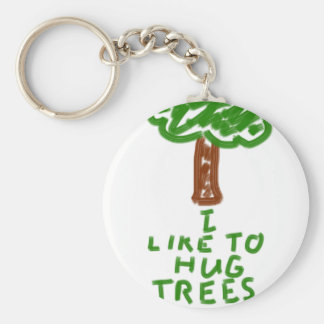 I Like to Hug Trees Keychain