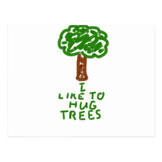 I Like to Hug Trees Postcard