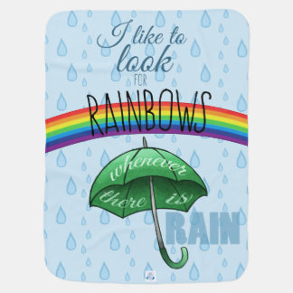 I like to look for rainbows receiving blanket