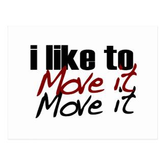 I Like To Move It Postcard