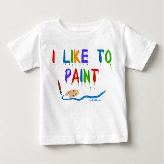 I like to paint - T-shirt