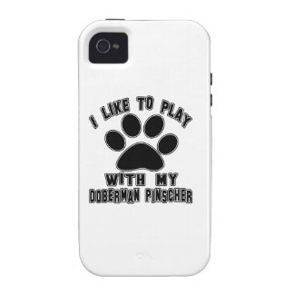 I like to play with my Doberman Pinscher. iPhone 4/4S Covers