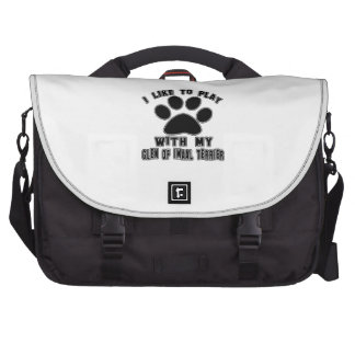 I like to play with my Glen of Imaal Terrier. Laptop Bag