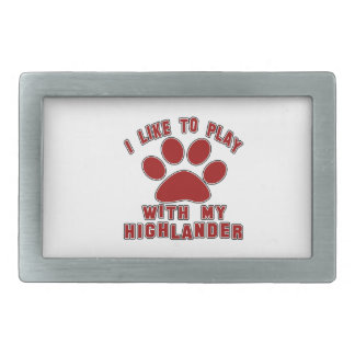 I like to play with my Highlander. Rectangular Belt Buckles
