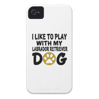 I Like To Play with My Labrador Retriever Dog Case-Mate iPhone 4 Case