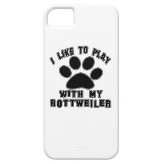 I like to play with my Rottweiler. iPhone 5 Cover