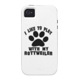 I like to play with my Rottweiler. Case-Mate iPhone 4 Case