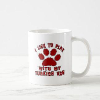I like to play with my Turkish Van. Coffee Mug