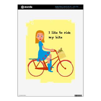 I like to ride my bike decals for iPad 3