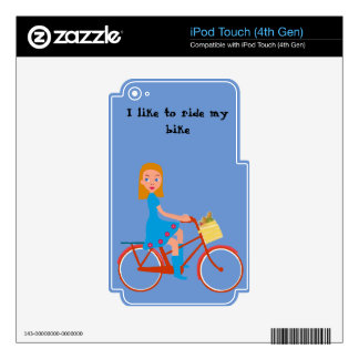 I like to ride my bike skin for iPod touch 4G