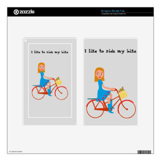 I like to ride my bike skin for kindle fire