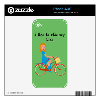 I like to ride my bike skins for the iPhone 4