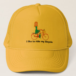 I like to ride my bike trucker hat
