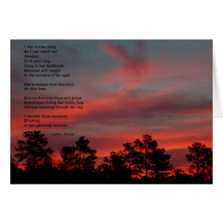 I Like to Rise Early Poem Note Card