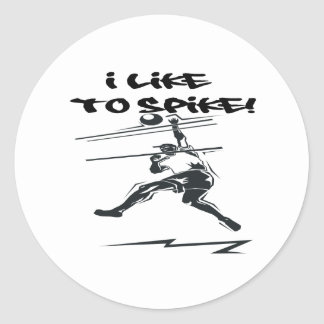 I Like To Spike Classic Round Sticker