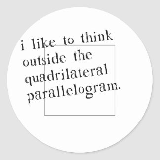 I Like To Think Outside The Box Classic Round Sticker