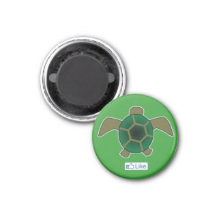 I Like Turtles 1 Inch Round Magnet