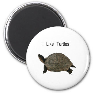 i like Turtles 2 Inch Round Magnet