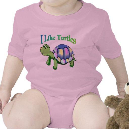 I Like Turtles Baby Bodysuits
