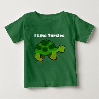 I Like Turtles - Baby Fine Jersey T-Shirt Baby T-Shirt