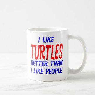 I Like Turtles Better Than I Like People Mug
