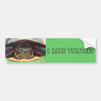 I Like Turtles Bumper Sticker Car Bumper Sticker