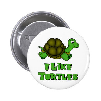 I Like Turtles Pinback Buttons