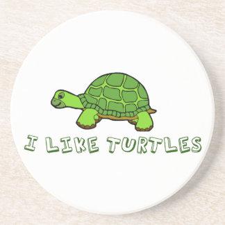 I Like Turtles Drink Coasters