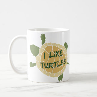I Like Turtles Coffee Mug