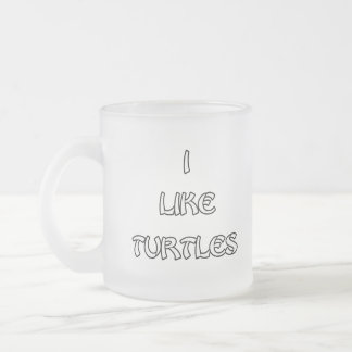 I like Turtles Frosted Glass Coffee Mug