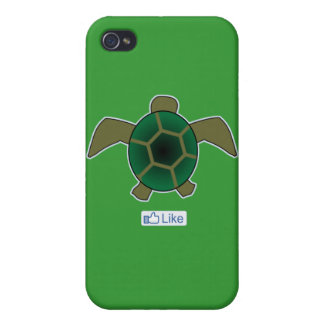I Like Turtles Cover For iPhone 4