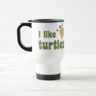 I Like Turtles 15 Oz Stainless Steel Travel Mug