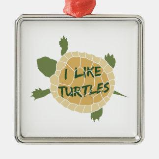 I Like Turtles Christmas Tree Ornament