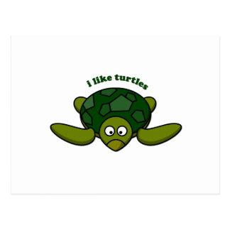 I like turtles post card