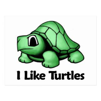 I Like Turtles Post Cards