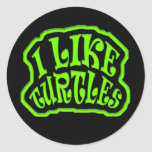 I Like Turtles Stickers