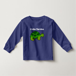 I Like Turtles - Toddler Long Sleeve T-Shirt