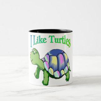 I Like Turtles Two-Tone Coffee Mug