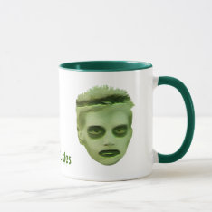 I Like Turtles Zombie Kid Mug at Zazzle