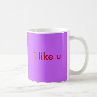 i like u coffee mug