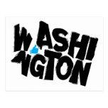 I Like Washington State Typographical Map Art Postcard