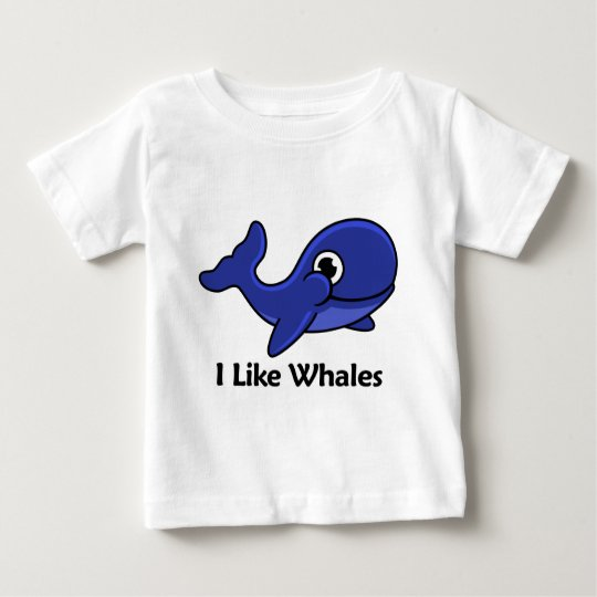 I Like Whales Baby T-Shirt