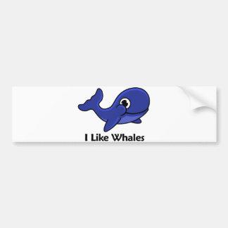I Like Whales Bumper Sticker