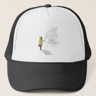 'I like witches' Trucker Hat