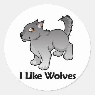 I Like Wolves Classic Round Sticker