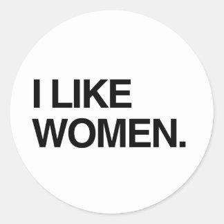 I LIKE WOMEN CLASSIC ROUND STICKER