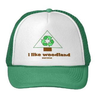 I like woodland Recycle Tree Hat