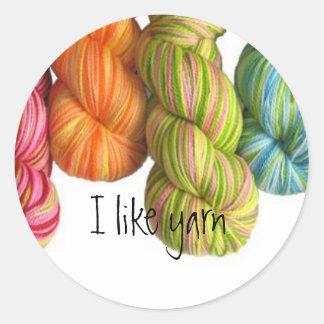 I like yarn classic round sticker